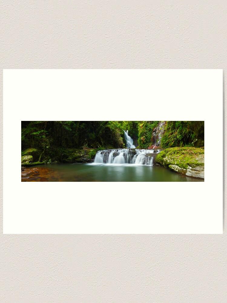 Alternate view of Elabana Falls, Lamington National Park, Queensland, Australia Art Print