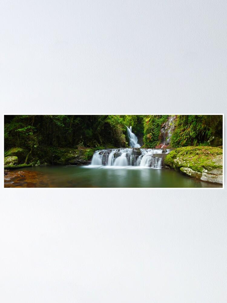 Alternate view of Elabana Falls, Lamington National Park, Queensland, Australia Poster
