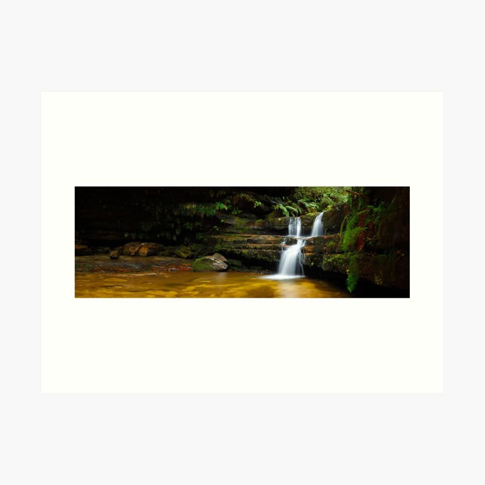 Terrance Falls, Hazelbrook, Blue Mountains, New South Wales, Australia Art Print