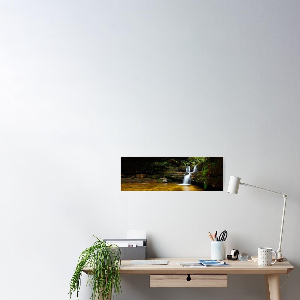 Terrance Falls, Hazelbrook, Blue Mountains, New South Wales, Australia Poster