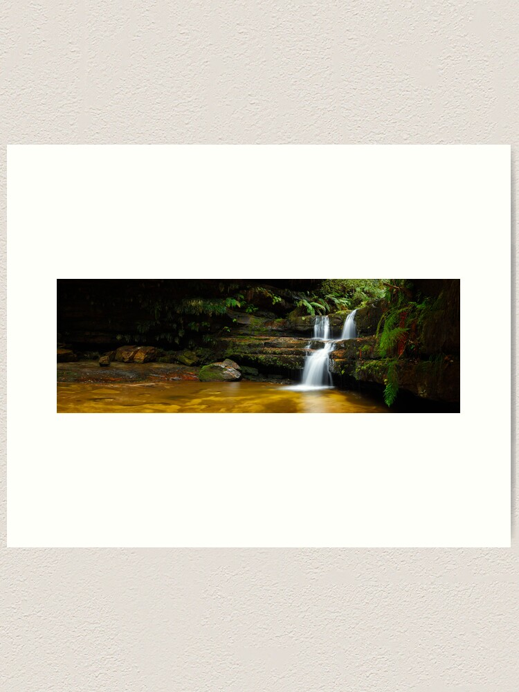 Alternate view of Terrance Falls, Hazelbrook, Blue Mountains, New South Wales, Australia Art Print