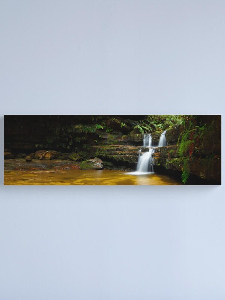 Alternate view of Terrance Falls, Hazelbrook, Blue Mountains, New South Wales, Australia Canvas Print