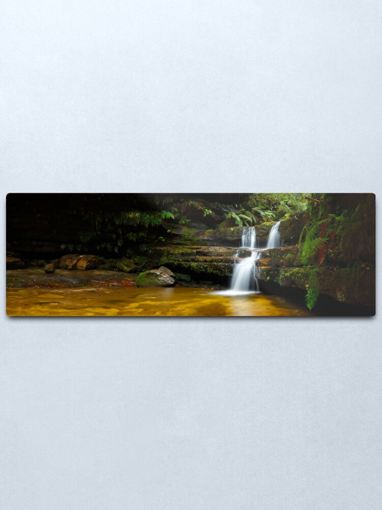 Alternate view of Terrance Falls, Hazelbrook, Blue Mountains, New South Wales, Australia Metal Print