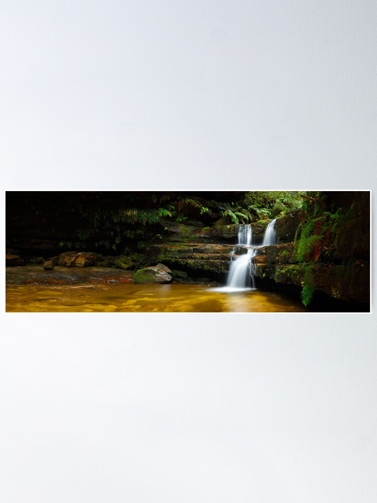 Alternate view of Terrance Falls, Hazelbrook, Blue Mountains, New South Wales, Australia Poster