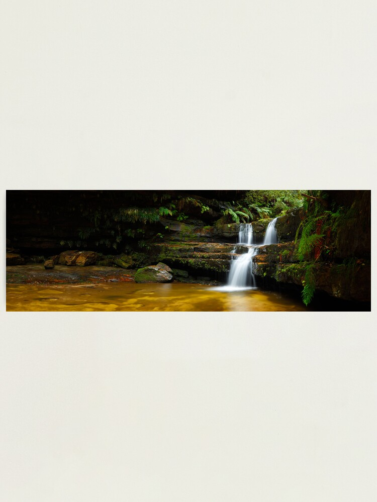 Alternate view of Terrance Falls, Hazelbrook, Blue Mountains, New South Wales, Australia Photographic Print