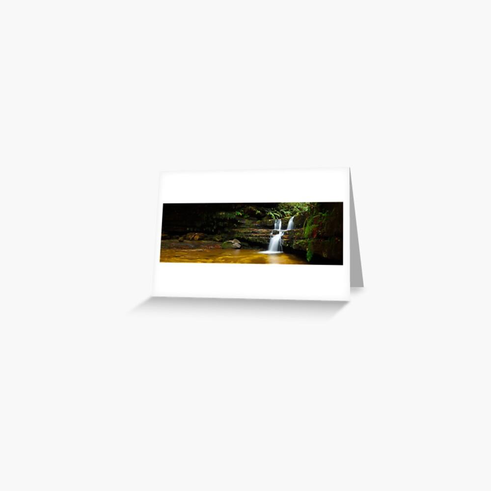 Terrance Falls, Hazelbrook, Blue Mountains, New South Wales, Australia Greeting Card