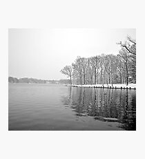 Mt Lakes in the Snow Photographic Print