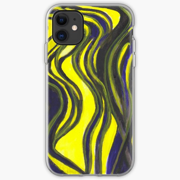 Myths and Legends Abstract (yellow and black) iPhone Soft Case