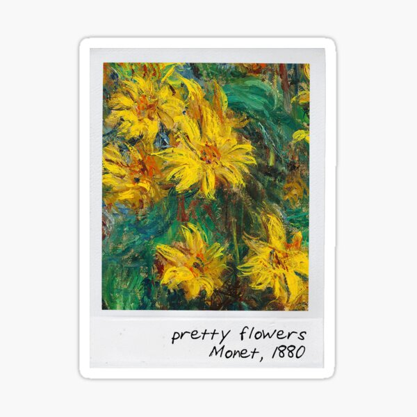 monet - pretty flowers Sticker
