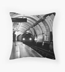 London - The Piccadilly Line, Earl's Court Throw Pillow