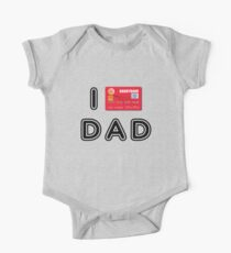 I love Dad (credit card version) One Piece - Short Sleeve
