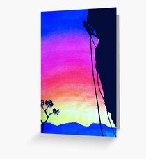 Sunset Rock-Climbing Greeting Card
