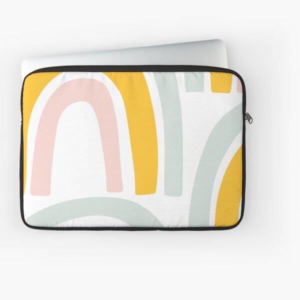 Pastel Abstract Rainbow Curves Laptop Sleeve