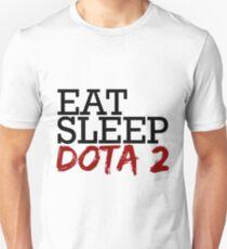 Camiseta unisex comer, dormir, dota 2
