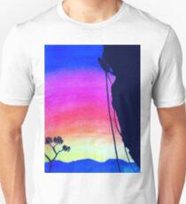 Sunset Rock-Climbing Unisex T-Shirt