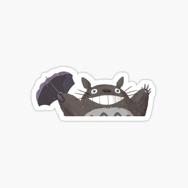 Extra Small Todoro praising the sun for laptop frame Sticker Sticker