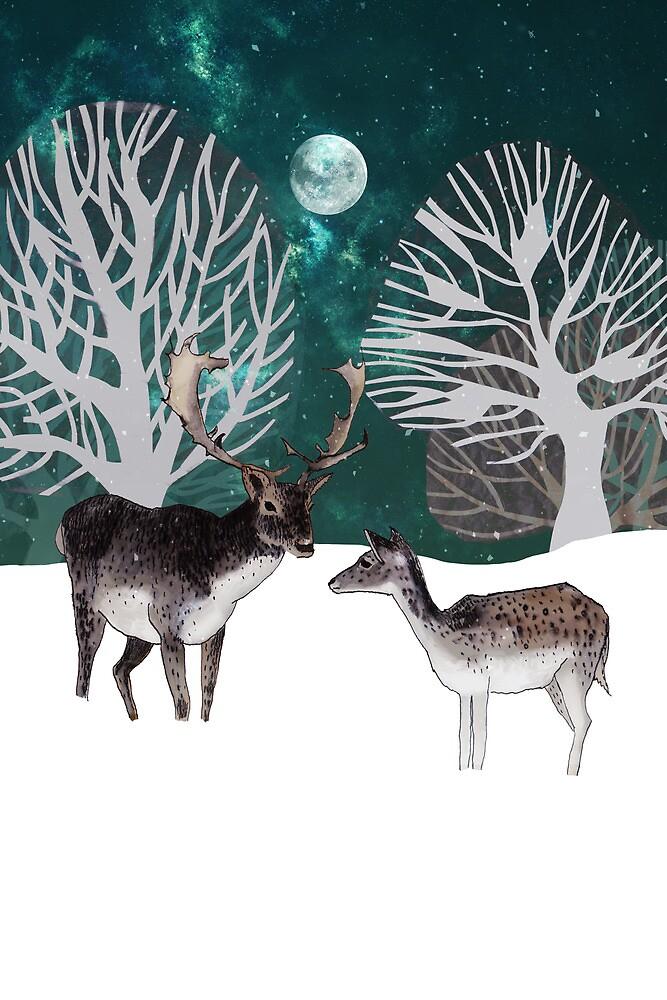 Two reindeer by Susan Craig