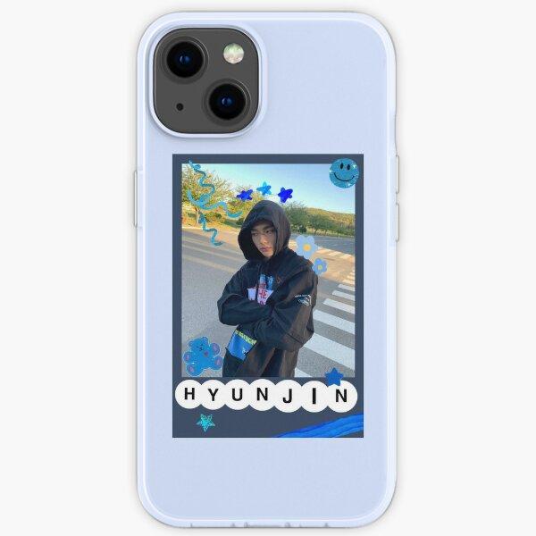 Hyunjin Polaroid blau iPhone Flexible Hülle