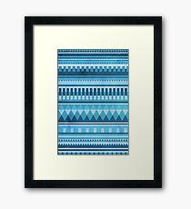 Blue Aztec Pattern Framed Print