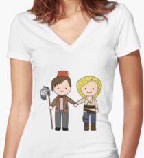 Eleven & River Pandorica Kawaii Design Women's Fitted V-Neck T-Shirt