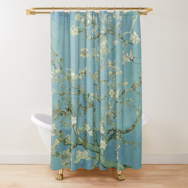 Blossoming almond tree branches - Vincent van Gogh Shower Curtain