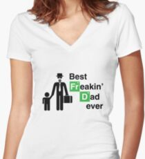 Best Freakin' Dad Ever (Breaking Bad) Women's Fitted V-Neck T-Shirt
