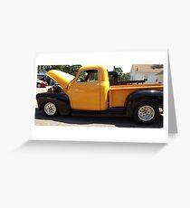 Yellow Chevy Pickup Greeting Card