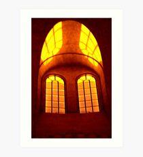 Cathedrale window Art Print