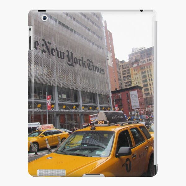 The New York Times and the New York taxis Coque rigide iPad