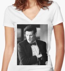 Matt Smith Women's Fitted V-Neck T-Shirt