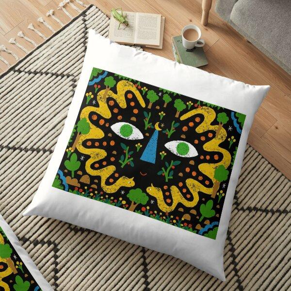 Miró's Dream Garden Floor Pillow