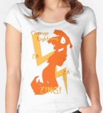 Orange Lightning Women's Fitted Scoop T-Shirt