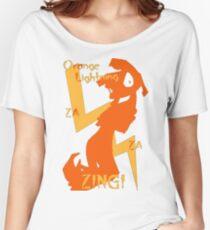 Orange Lightning Women's Relaxed Fit T-Shirt