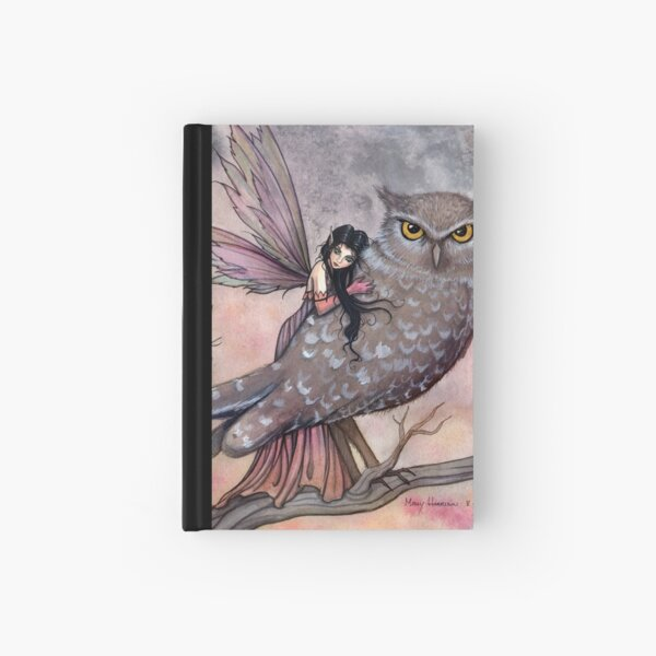 Friendship Fairy and Owl Fantasy Art Illustration by Molly Harrison Hardcover Journal