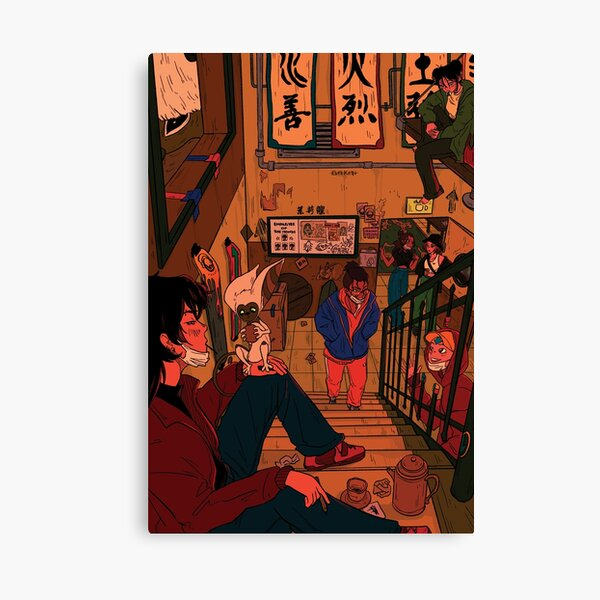 in the backroom of the jasmine dragon Canvas Print