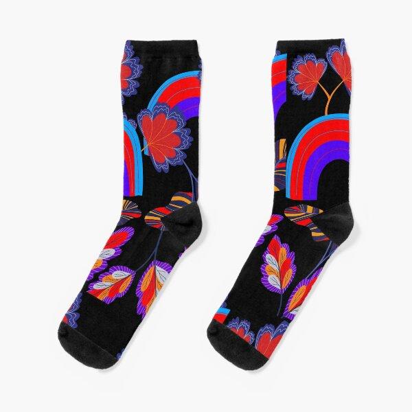 Flowers and Rainbows Socks