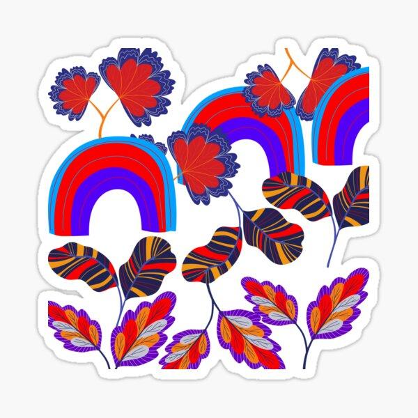 Flowers and Rainbows Sticker