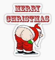 Santa's Butt, Merry Christmas Sticker
