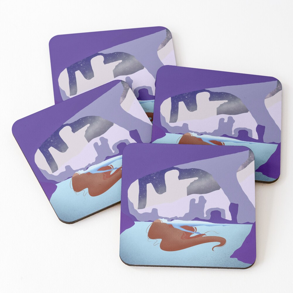Night swim Coasters (Set of 4)
