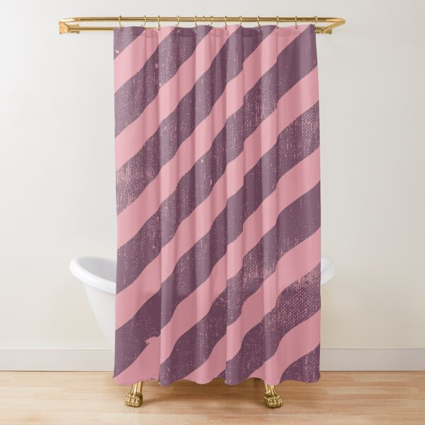 Grunge pink texture and pink stripes pattern Shower Curtain