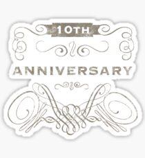 10th Anniversary (Vintage)  Sticker