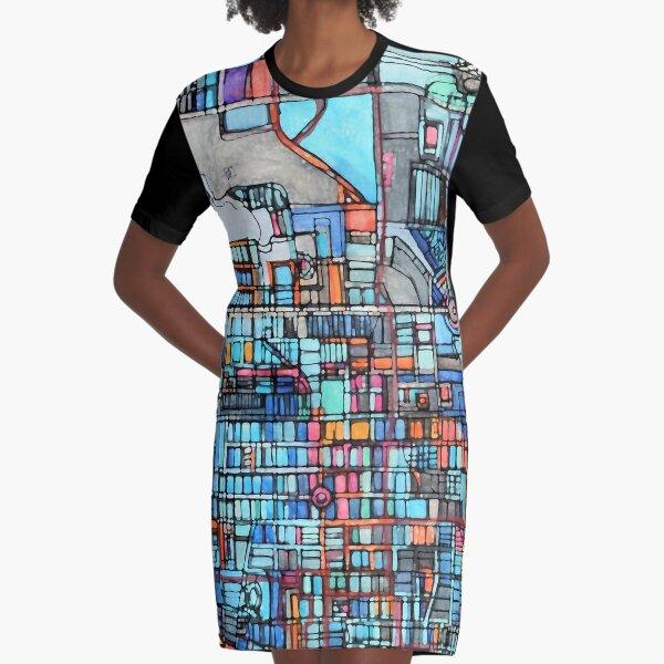 Long Beach, CA Graphic T-Shirt Dress
