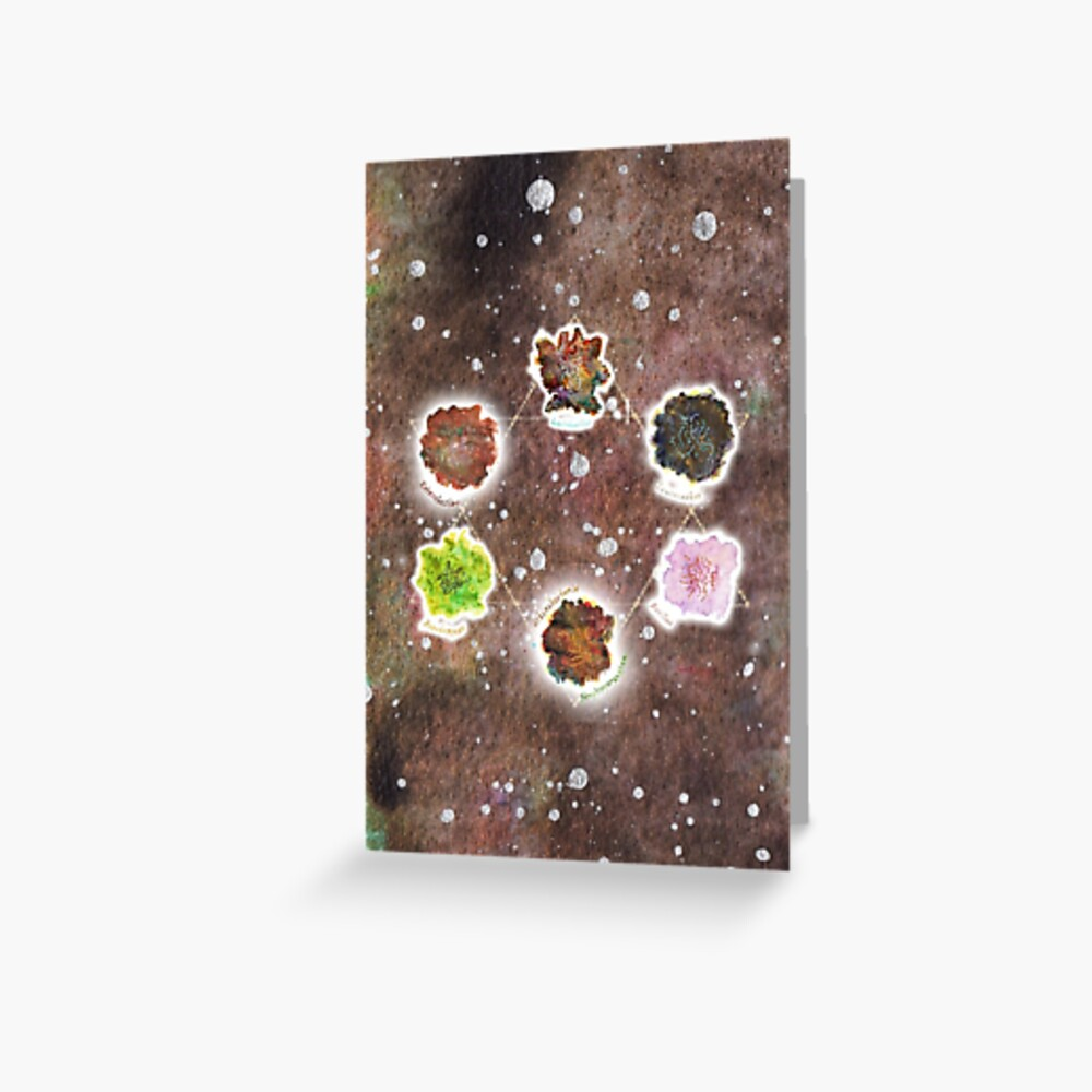 Cosmic Compost Complete Collection Greeting Card Greeting Card