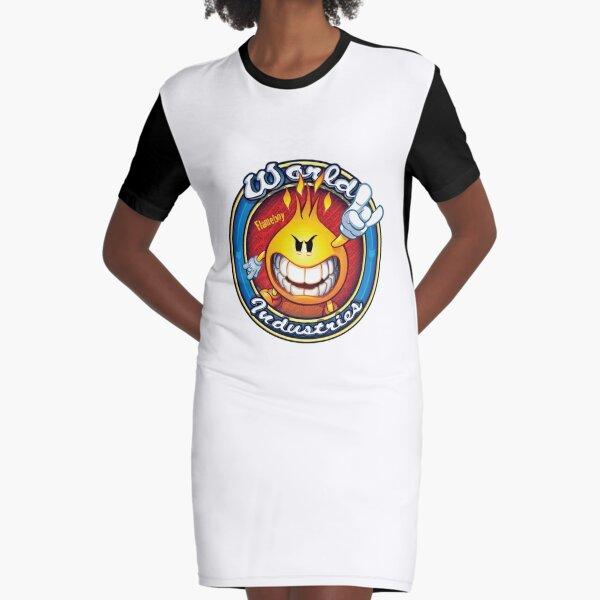 World Industries Flame Boy Hook Ups Skate Hookups Hook-Ups 90's Vintage Devil Satan Graphic T-Shirt Dress