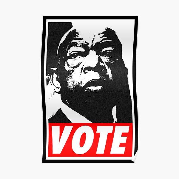 John Lewis - VOTE (red) Poster