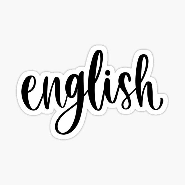 English - Folder/Binder Sticker