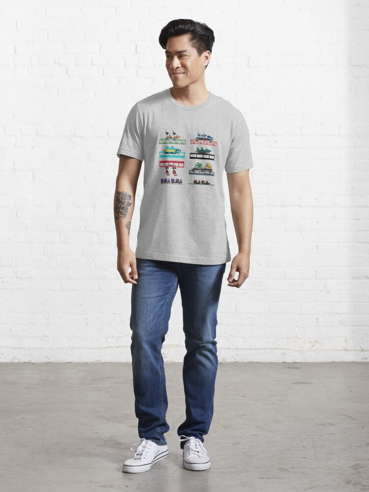 Alternate view of Darien Lake Coaster Cars Design Essential T-Shirt