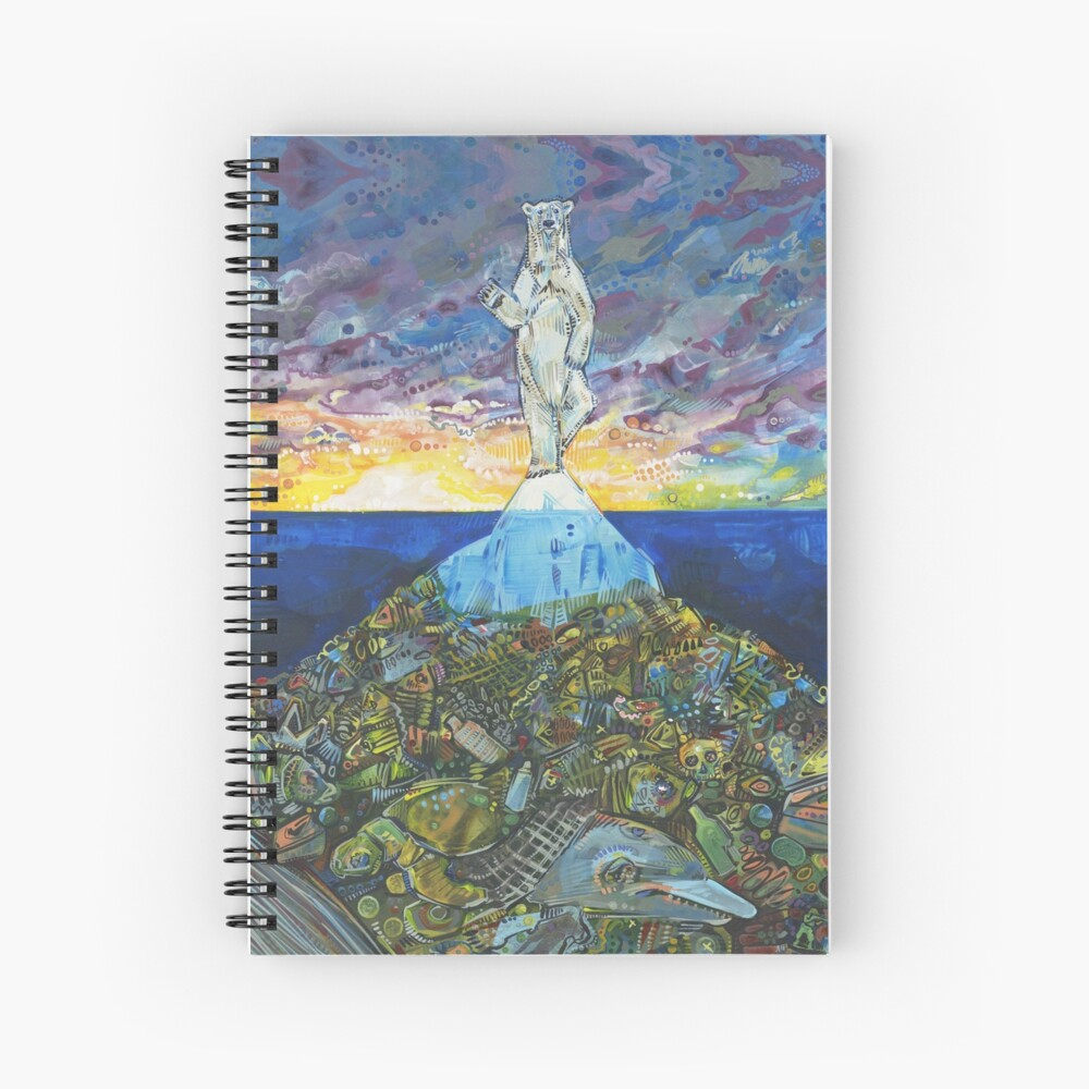 Tip of the Iceberg Painting - 2018 Spiral Notebook