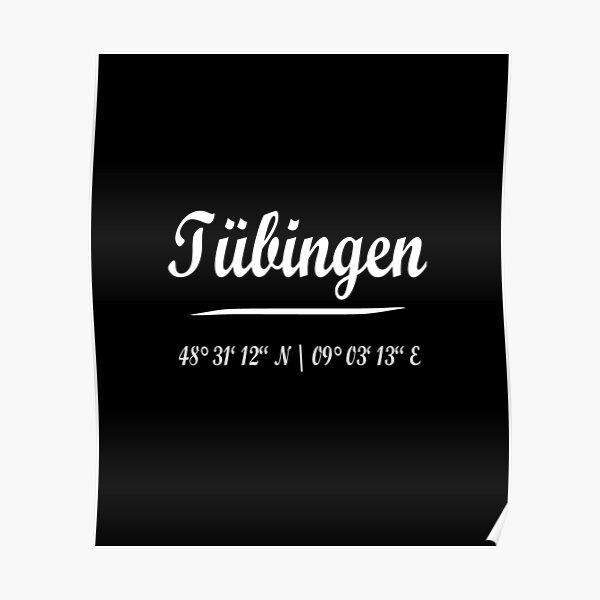 Tübingen with coordinates Poster