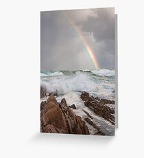 Rainbow over Yabarra Beach Greeting Card